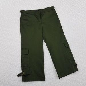 Mixit Dark Green Capri Pants Size 8